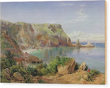 Ansty's Cove Wood Print by John William Salter
