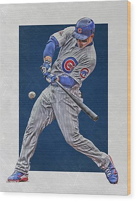 Anthony Rizzo Chicago Cubs Art 1 Wood Print by Joe Hamilton