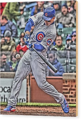 Anthony Rizzo Chicago Cubs Wood Print by Joe Hamilton