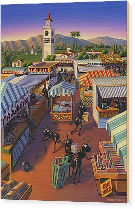 Ants At The Hollywood Farmers Market Wood Print by Robin Moline