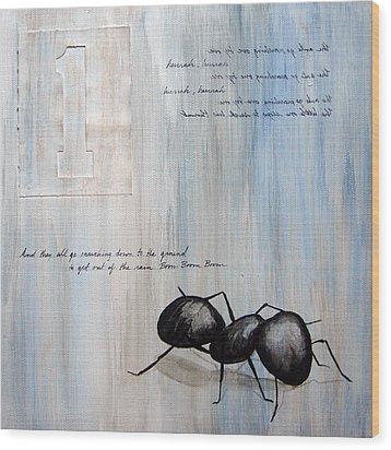 Ants Marching 1 Wood Print by Kristin Llamas