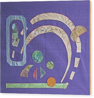 Applique 8 Wood Print by Eileen Hale