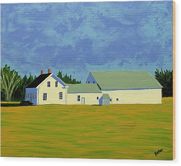 April Afternoon Route 17 Wood Print by Laurie Breton