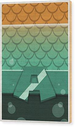 Aquaman Wood Print by Michael Myers