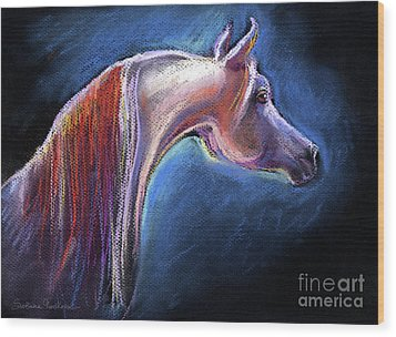 Arabian Horse Equine Painting Wood Print by Svetlana Novikova