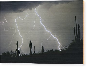 Arizona Desert Storm Wood Print by James BO  Insogna
