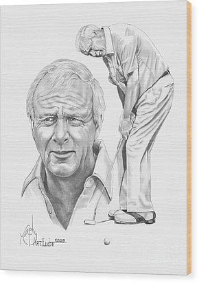 Arnold Palmer Wood Print by Murphy Elliott