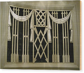 Art Deco Grate 2 Wood Print by Michael Durst