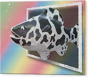 Art Fish Fun Wood Print by Brian Wallace