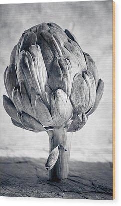 Artichoke Wood Print by Maggie Terlecki