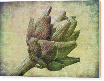 Artichoke Wood Print by Susan Isakson