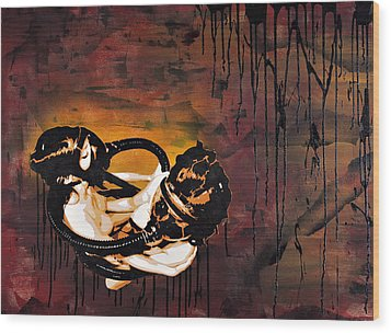 Asphyxiation By Oil Dependency Wood Print by Tai Taeoalii