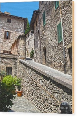 Assisi Italy Wood Print by Gregory Dyer