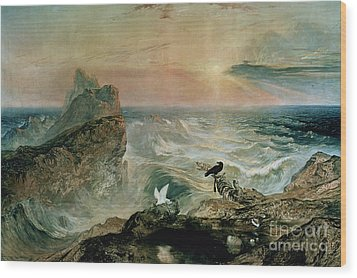 Assuaging Of The Waters Wood Print by John Martin