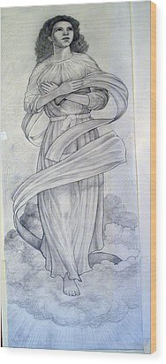 Assumption Of The Virgin Wood Print by Patrick RANKIN