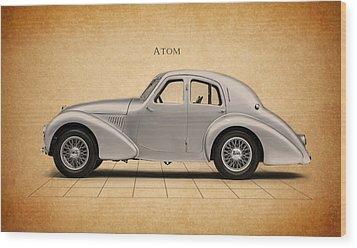 Aston Martin Atom Wood Print by Mark Rogan