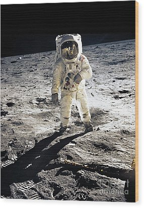 Astronaut Wood Print by Photo Researchers