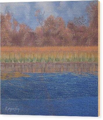 At The Water's Edge Wood Print by Harvey Rogosin