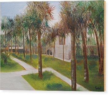 Atalaya Huntington Beach Sc Wood Print by Phil Burton
