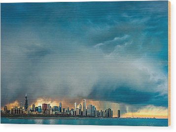 Attention Seeking Clouds Wood Print by Cory Dewald