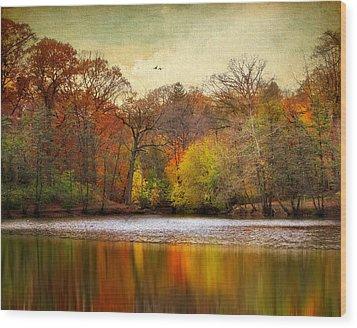 Autumn Arises 2 Wood Print by Jessica Jenney