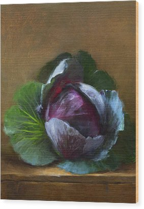 Autumn Cabbage Wood Print by Robert Papp
