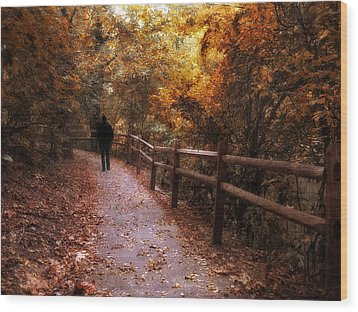Autumn In Stride Wood Print by Jessica Jenney