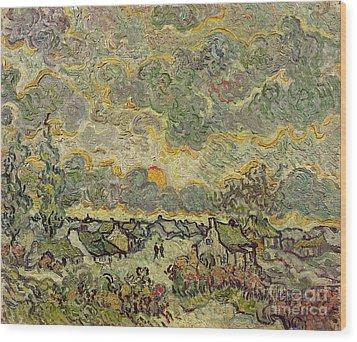 Autumn Landscape Wood Print by Vincent Van Gogh
