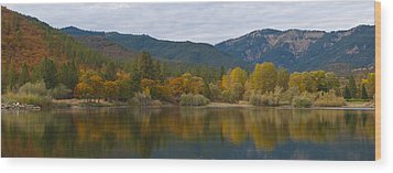 Autumn Panorama Wood Print by Loree Johnson