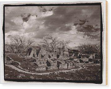 Aztec Ruins National Monument Wood Print by Steve Gadomski