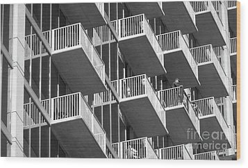 Balcony Colony Wood Print by WaLdEmAr BoRrErO