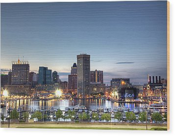 Baltimore Harbor Wood Print by Shawn Everhart