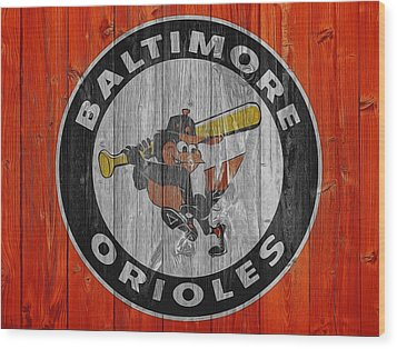 Baltimore Orioles Graphic Barn Door Wood Print by Dan Sproul