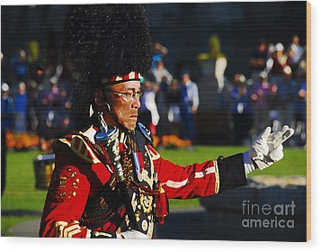 Band Leader Wood Print by David Lee Thompson