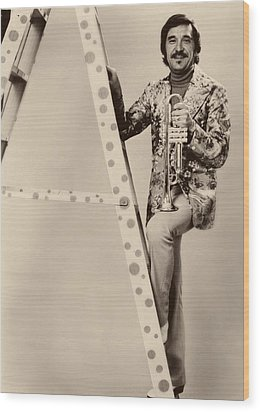 Band Leader Doc Serverinsen 1974 Wood Print by Mountain Dreams