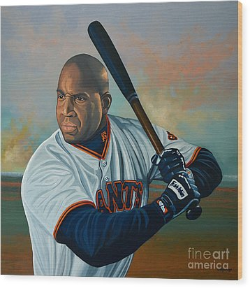 Barry Bonds Wood Print by Paul Meijering