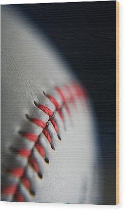 Baseball Fan Wood Print by Rachelle Johnston