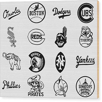 Baseball Logos Wood Print by Granger