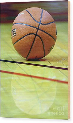 Basketball Reflections Wood Print by Alan Look