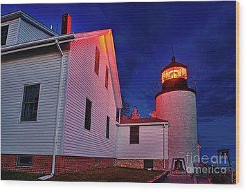Bass Harbor Lighthouse Maine Wood Print by John Greim