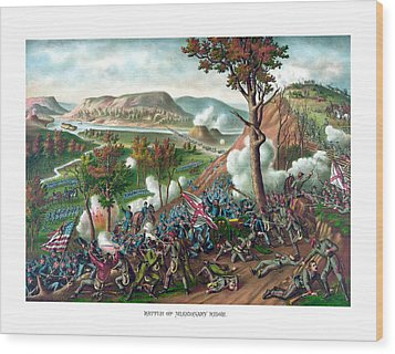 Battle Of Missionary Ridge Wood Print by War Is Hell Store