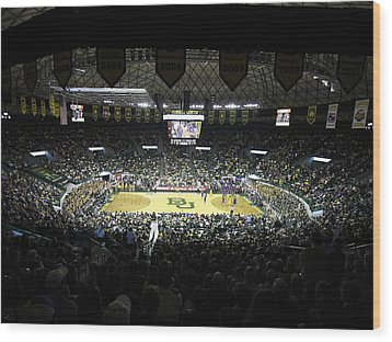 Baylor Bears Sellout Ferrell Center Wood Print by Replay Photos