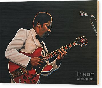 B. B. King Wood Print by Paul Meijering