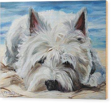 Beach Bum Wood Print by Mary Sparrow