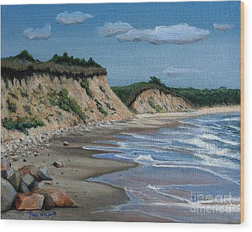 Beach Wood Print by Paul Walsh