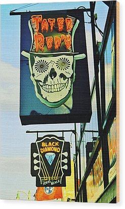 Beale St. 1 Wood Print by Jame Hayes