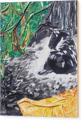Beatitude  Wood Print by Hatin Josee