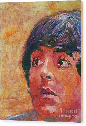 Beatle Paul Wood Print by David Lloyd Glover