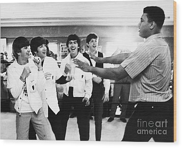 Beatles And Clay, 1964 Wood Print by Granger