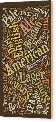 Beer Lover Cell Case Wood Print by Edward Fielding